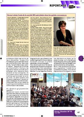 Donna Letizia Costa de la société MB spécialisée dans les godets concasseurs