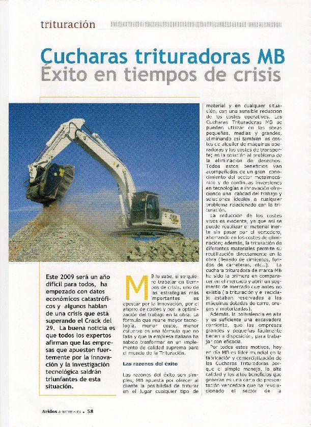 Cuchara trituradora MB: éxito en tiempos de crisis