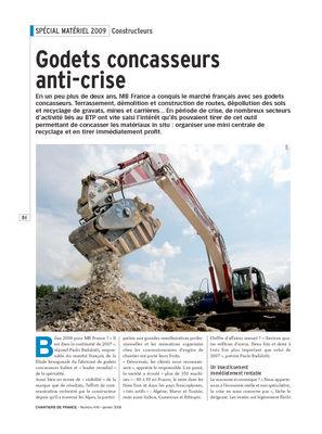 Godets concasseurs anti-crise