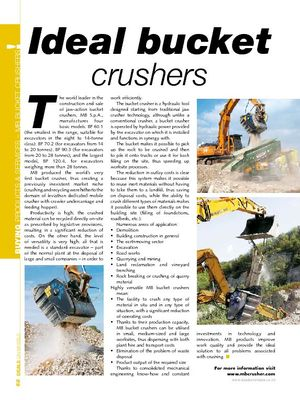 Ideal bucket crushers