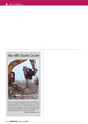 New's MB bucket crushers