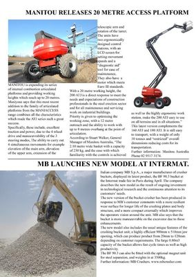 MB launches new model at Intermat