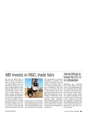 MB invests in R&D, trade fairs