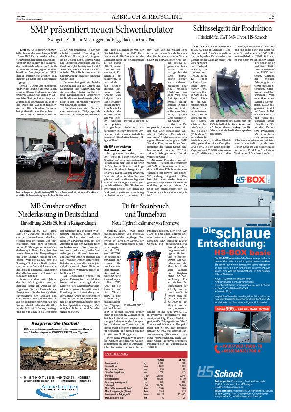 MB Crusher erö'net Niederlassung in Deutschland