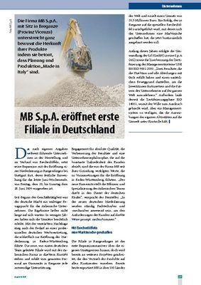 MB S.p.A. eröffnet erste Filiale in Deutschland