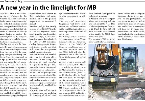 A new year in the limelight for MB
