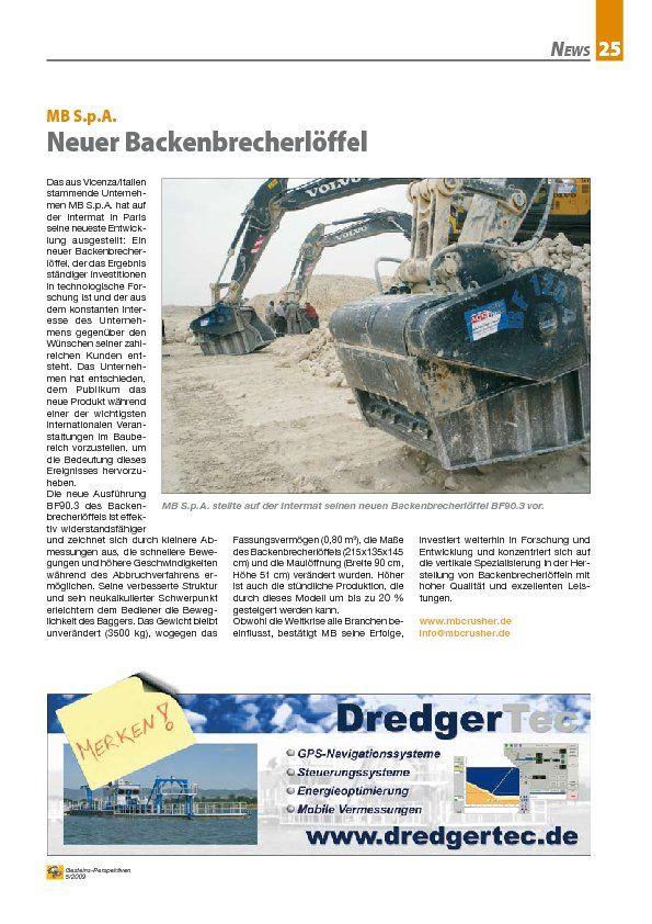 MB S.p.A. Neuer Backenbrecherlöffel