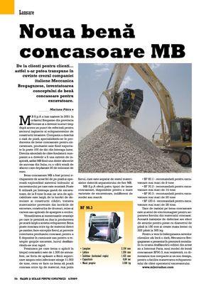 Noua benã concasoare MB