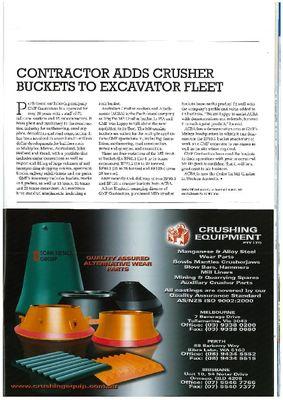 Contractors adds crusher buckets to excavator fleet