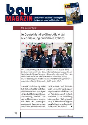 In Deutschland eröffnet die erste Niederlassung außerhalb Italiens