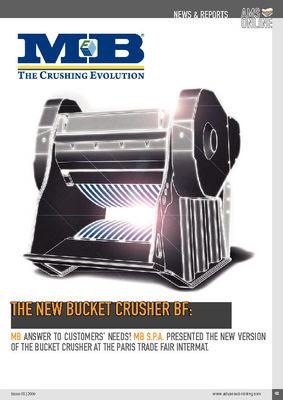 The new bucket crusher BF