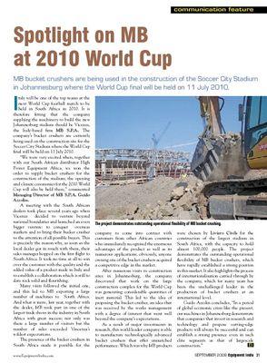 Spotlight on MB at 2010 World Cup