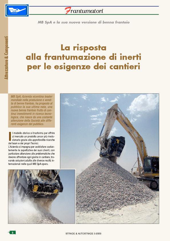 La risposta alla frantumazione di inerti per le esigenze dei cantieri