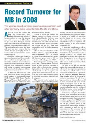 Record Turnover for MB in 2008