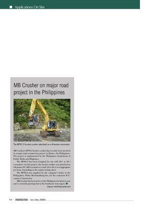 MB Crusher on major road project in the Philippines