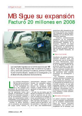 MB Sigue su expansión: facturó 20 millones en 2008