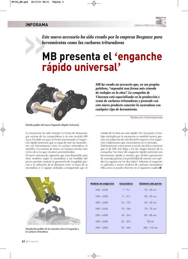 MB presenta el 'enganche rápido universal'