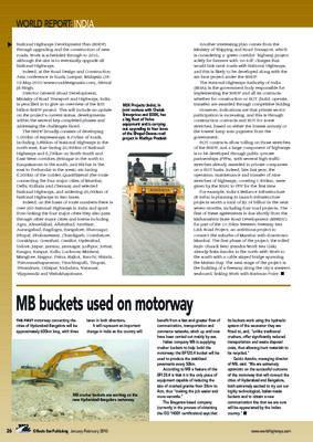 MB buckets used on motorway