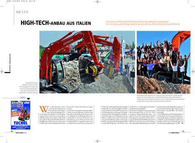 High-tech-anbau aus Italien