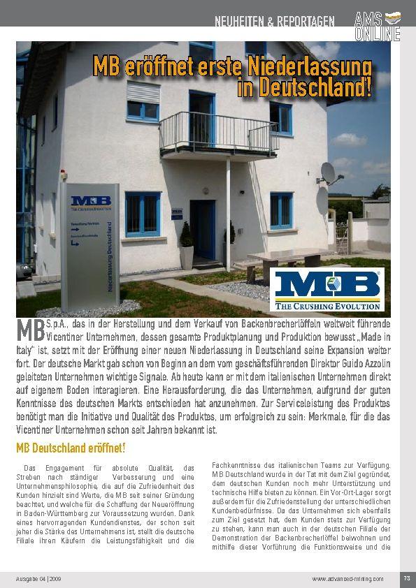 MB eröffnet erste Niederlassung in Deutschland!