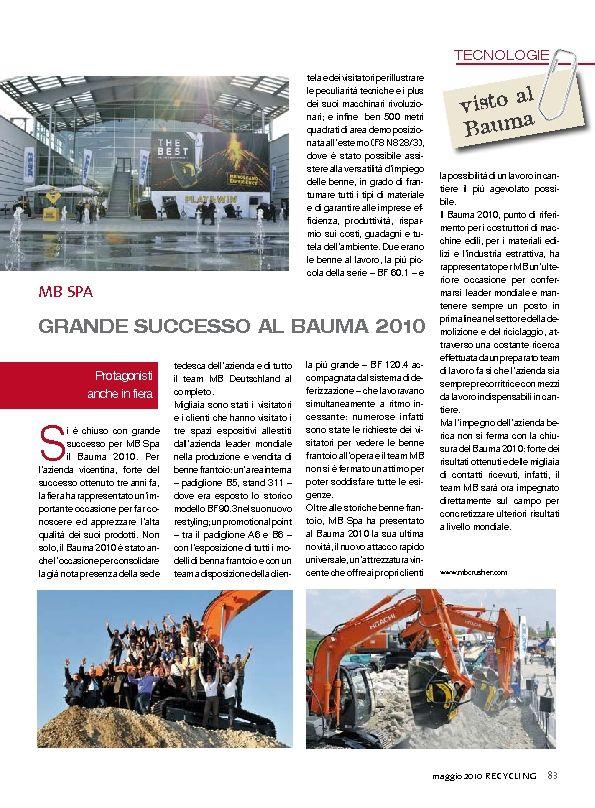 Grande successo al Bauma 2010