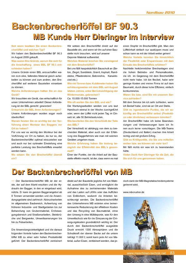 Backenbrecherlöffel BF 90.3 MB Kunde Herr Dieringer im Interview