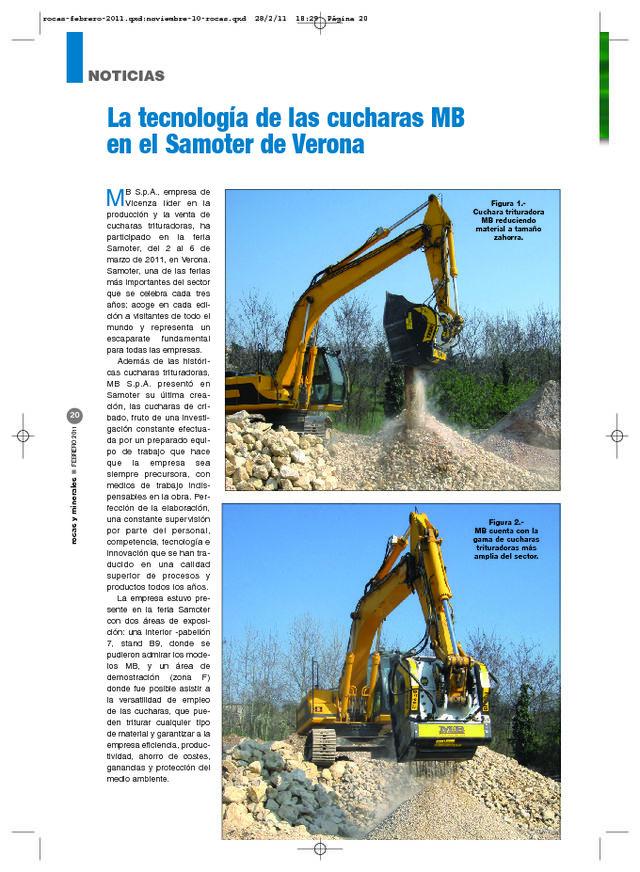 La tecnología de las cucharas MB en el Samoter de Verona
