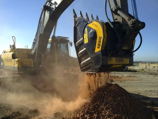 The MB crusher bucket at work in South Africa