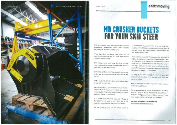 MB CRUSHER BUCKETS FOR YOUR SKID STEER