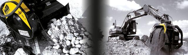 Der erste Backenbrecherlöffel der Welt BF90.3 und das Sieben MB-S18 für große Bagger