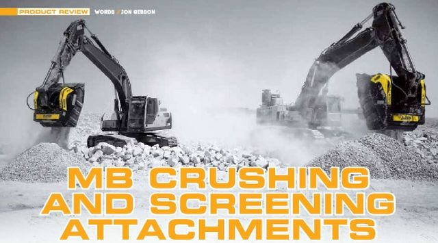 MB CRUSHING AND SCREENING ATTACHMENTS: the modern construction site