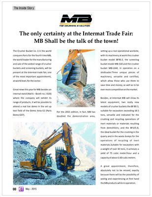The only certainty at the Intermat Trade Fair: MB Shall be the talk of the town!