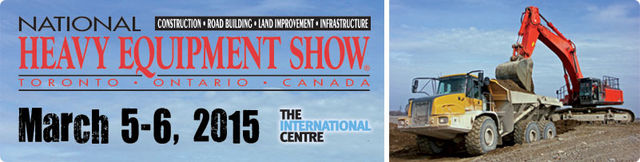March 2015 - MB buckets will be exhibited at the NATIONAL HEAVY EQUIPMENT SHOW Toronto!