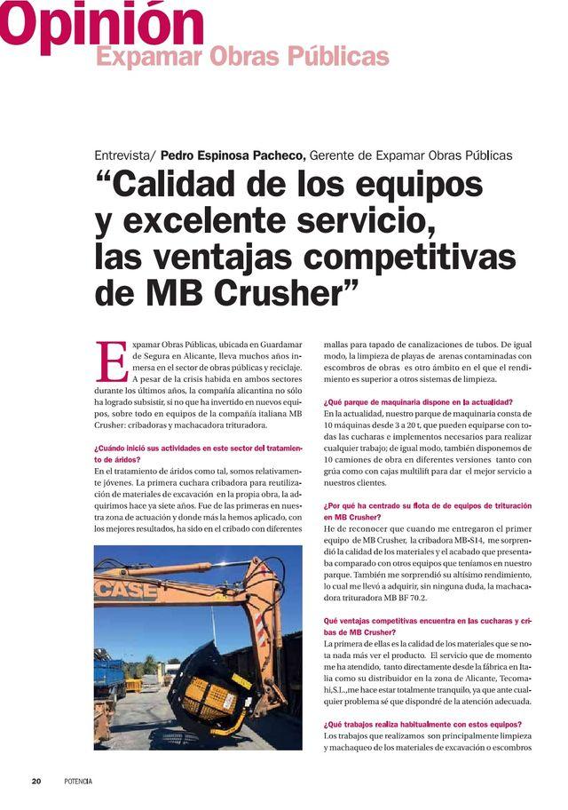 Calidad de los equipos y excelente servicio, las ventajas competitivas de MB Crusher