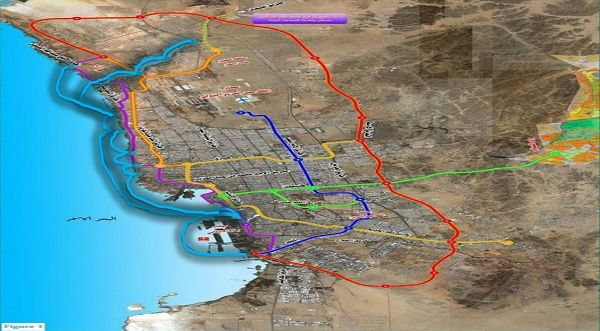 Jeddah Metro Construction Maps