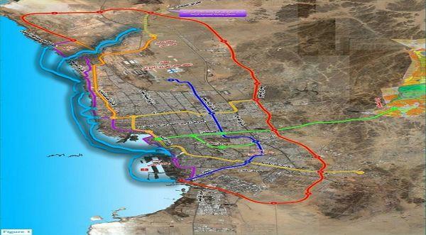 Jeddah Metro Construction Maps