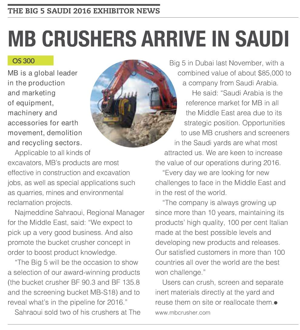 [..]Saudi Arabia is the reference market for MB in all te Middle East area due to its strateci position.