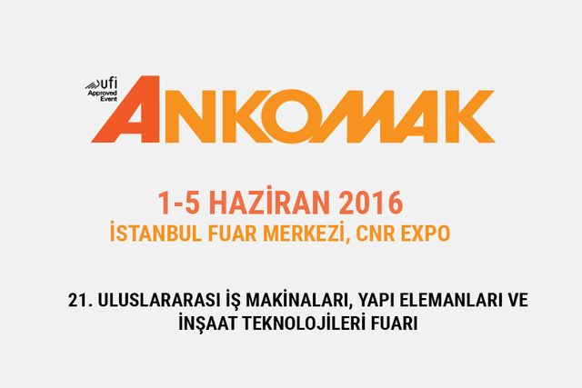 June 2016: MB Crusher will attend ANKOMAK 2016, Istanbul - Turkey