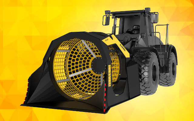News - MB presents the new MB-LS220, the screening bucket  for larger loaders and backhoes