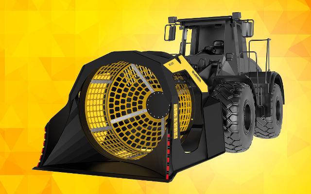 MB-LS220, le godet cribleur pour chargeuses er chargeuses-pelleteuses de grandes dimensions