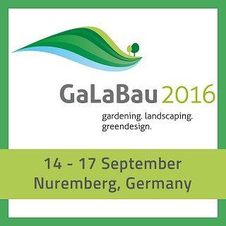 Besuchen Sie uns auf der GaLaBau 2016 in Nürnberg vom 14.09.2016 - 17.09.2016