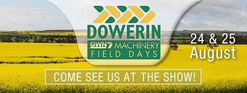 On August 24 and 25 come and visit us at DOWERIN FIELD DAYS, Australia!