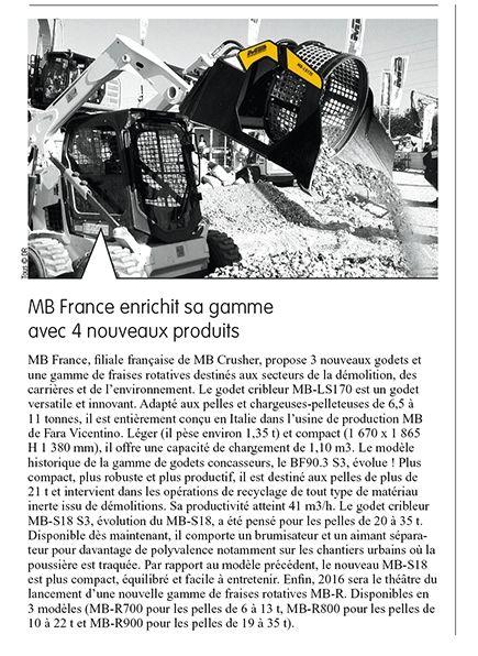 MB France enrichit sa gamme avec 4 nuveaux produits