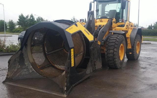 Kraftfull sorterskopa för stora maskiner
