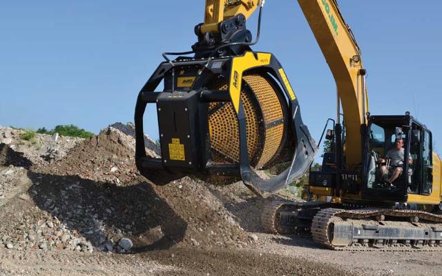 vagliatore per escavatore MB Meccanica Breganzese