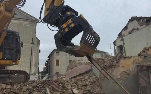 pinzas de demolición para excavadora