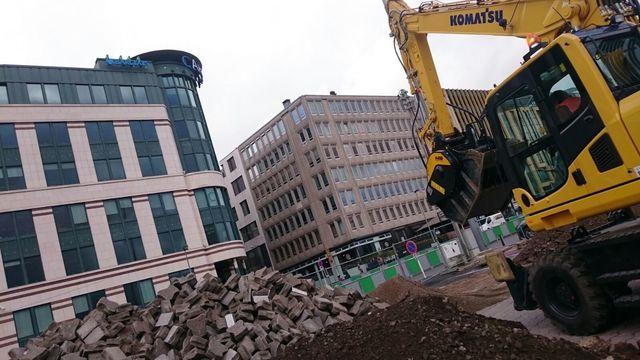 News - MB Crusher dans le coeur de Luxembourg ville