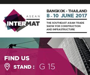 MB crusher at first edition of INTERMAT ASEAN,  8-10 June in Bangkok, Thailand