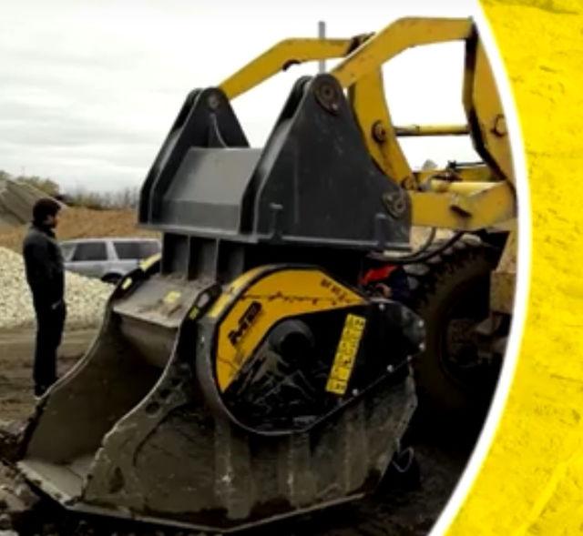 News - Дробильный ковш BF80.3 на погрузчике Dressta L-34