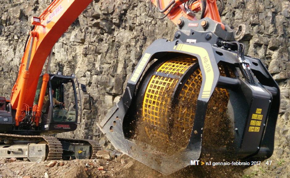 MB Crusher ha saputo rispondere alle esigenze più disparate, creando benne ideali per le pale più piccole ma anche per i giganti del settore. Scopriamo la colossale MB-S18 S3.